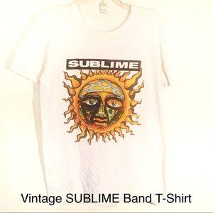 Vintage Anvil White Sublime Band T-Shirt-S-Men's